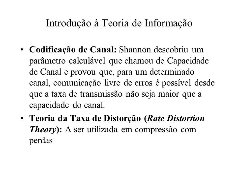 Codificação de Canal: Shannon descobriu um parâmetro calculável que chamou de Capacidade de Canal e provou que, para um determinado canal, comunicação livre de erros é possível desde que a taxa de transmissão não seja maior que a capacidade do canal.