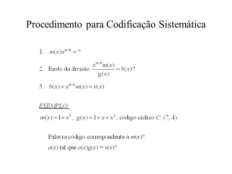 Procedimento para Codificação Sistemática