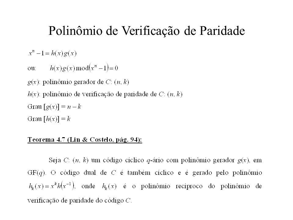 Polinômio de Verificação de Paridade