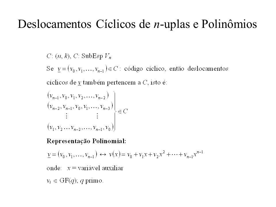 Deslocamentos Cíclicos de n-uplas e Polinômios