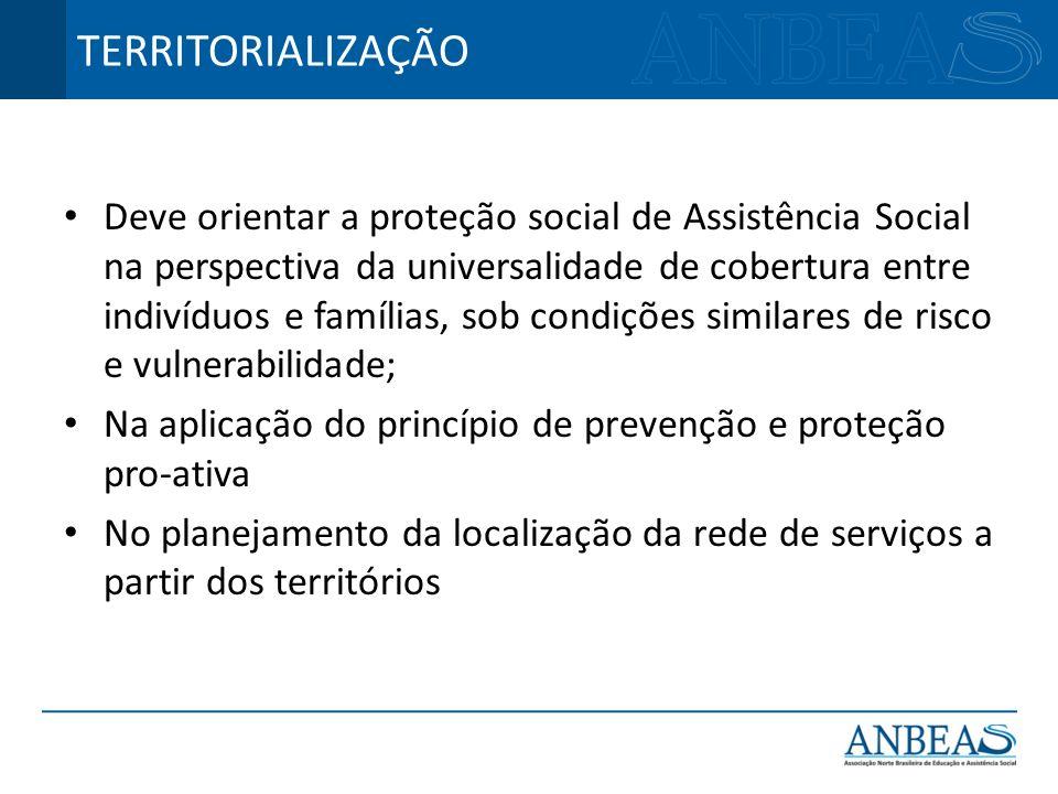 Deve orientar a proteção social de Assistência Social na perspectiva da universalidade de cobertura entre indivíduos e famílias, sob condições similar