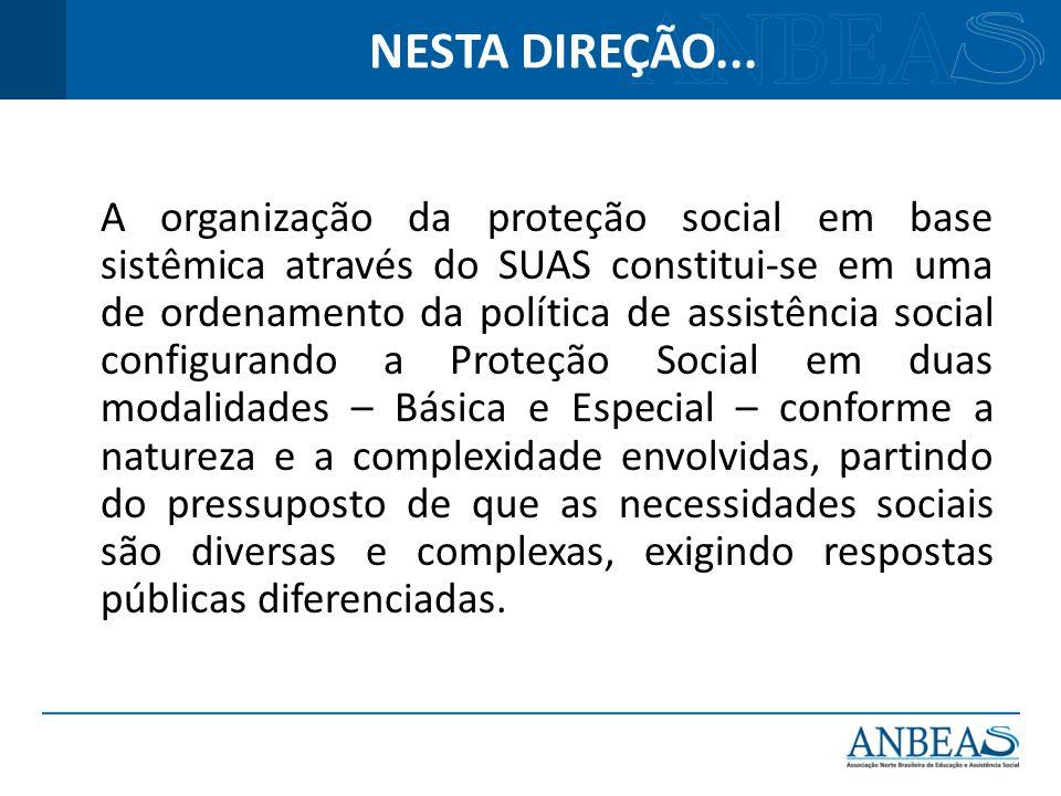 A organização da proteção social em base sistêmica através do SUAS constitui-se em uma de ordenamento da política de assistência social configurando a