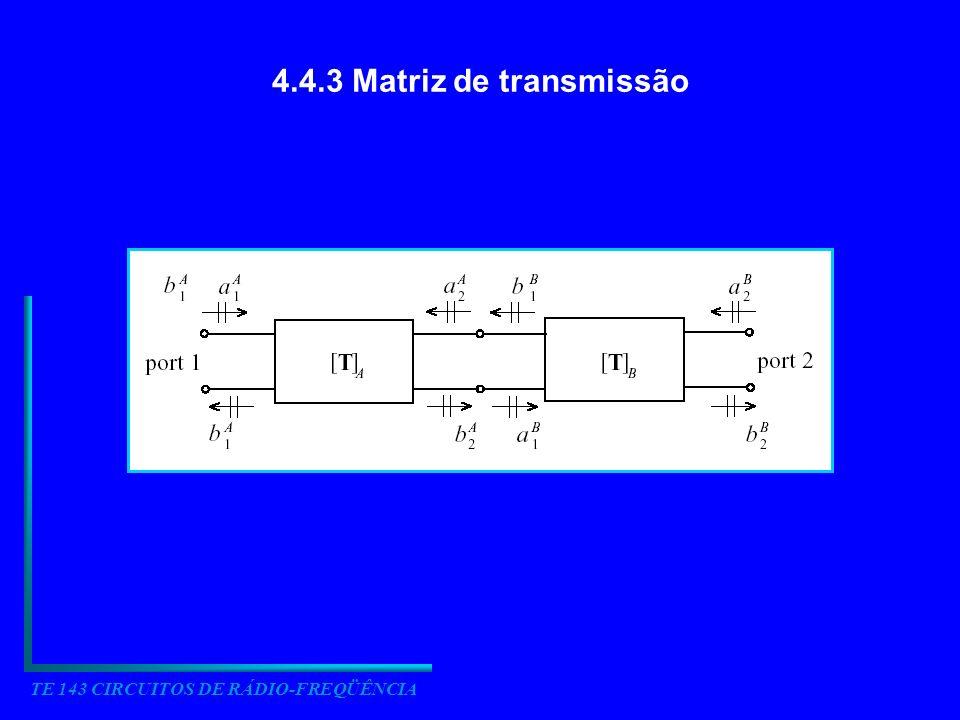 TE 143 CIRCUITOS DE RÁDIO-FREQÜÊNCIA 4.4.5 Gráficos de Fluxo de Sinal