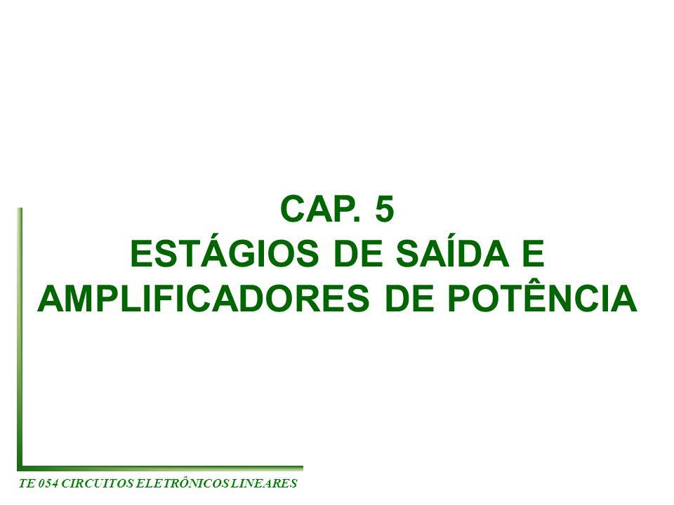 TE 054 CIRCUITOS ELETRÔNICOS LINEARES CAP. 5 ESTÁGIOS DE SAÍDA E AMPLIFICADORES DE POTÊNCIA