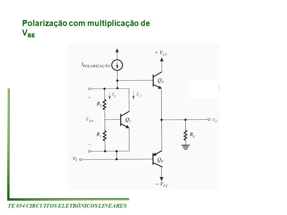 TE 054 CIRCUITOS ELETRÔNICOS LINEARES Polarização com multiplicação de V BE