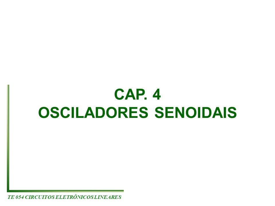 TE 054 CIRCUITOS ELETRÔNICOS LINEARES CAP. 4 OSCILADORES SENOIDAIS