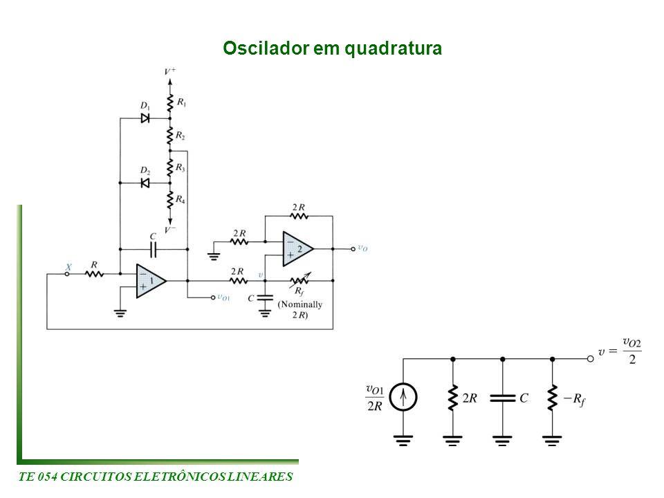 TE 054 CIRCUITOS ELETRÔNICOS LINEARES Oscilador em quadratura