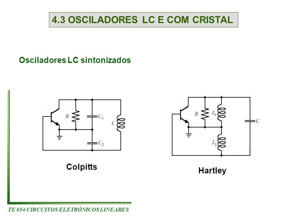 4.3 OSCILADORES LC E COM CRISTAL Osciladores LC sintonizados Colpitts Hartley