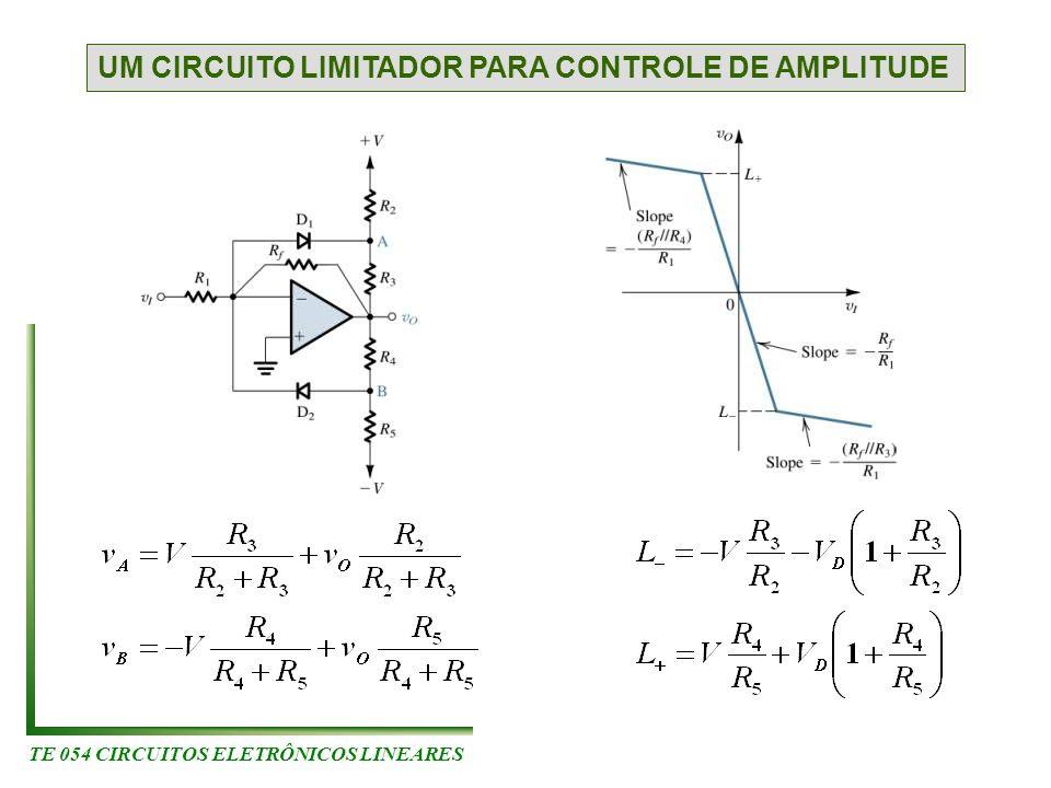 TE 054 CIRCUITOS ELETRÔNICOS LINEARES UM CIRCUITO LIMITADOR PARA CONTROLE DE AMPLITUDE