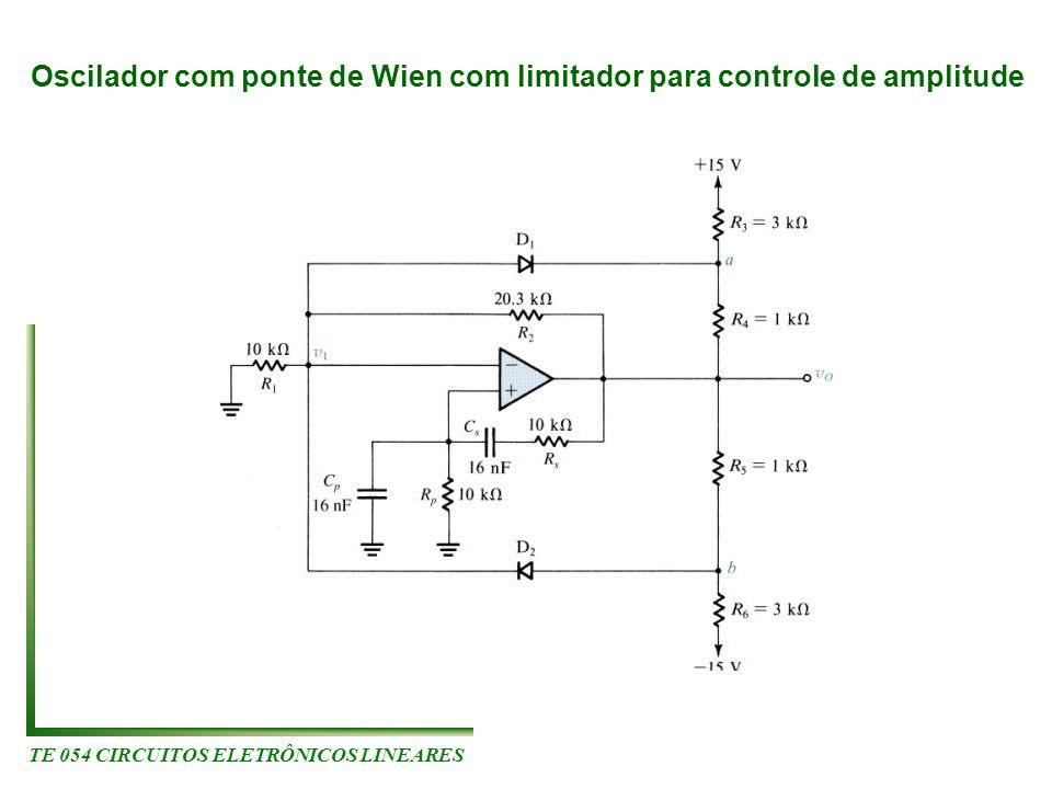 TE 054 CIRCUITOS ELETRÔNICOS LINEARES Oscilador com ponte de Wien com limitador para controle de amplitude