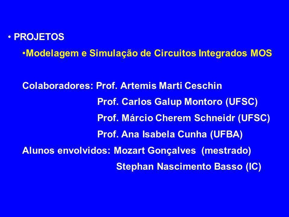 Projeto de Circuitos Integrados de Rádio-Freqüência em Tecnologia CMOS Colaboradores:Prof.