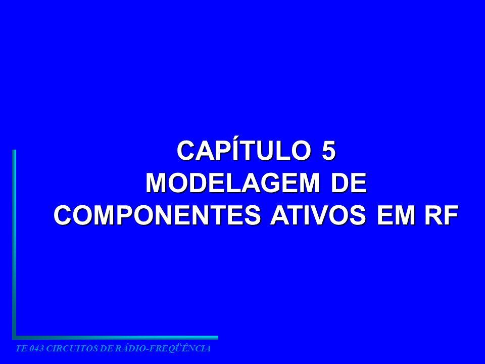 TE 043 CIRCUITOS DE RÁDIO-FREQÜÊNCIA CAPÍTULO 5 MODELAGEM DE COMPONENTES ATIVOS EM RF