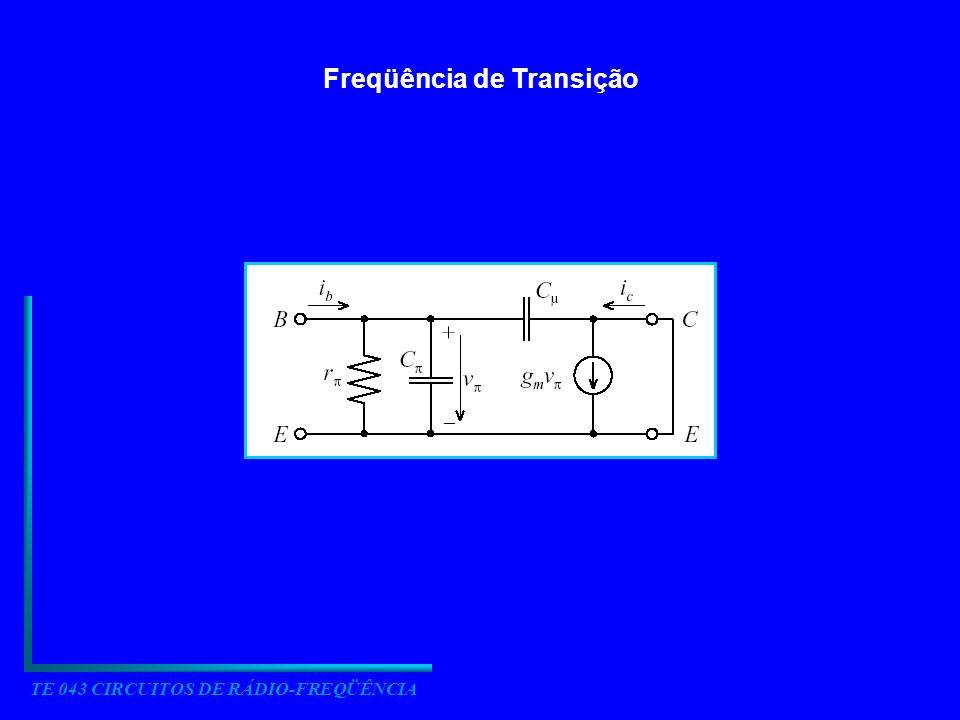 TE 043 CIRCUITOS DE RÁDIO-FREQÜÊNCIA Freqüência de Transição