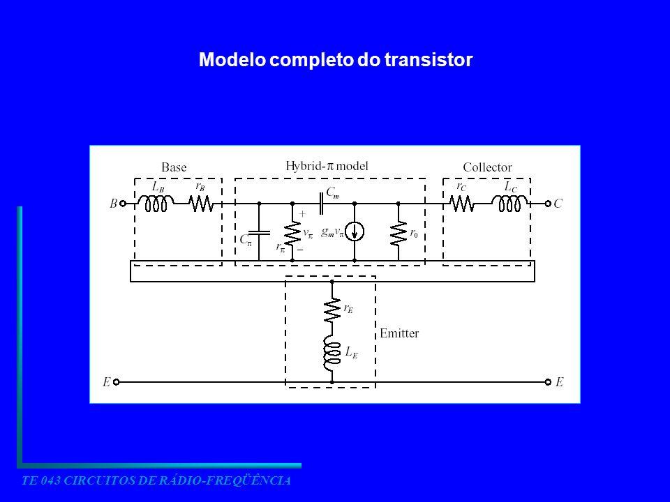 TE 043 CIRCUITOS DE RÁDIO-FREQÜÊNCIA Modelo completo do transistor