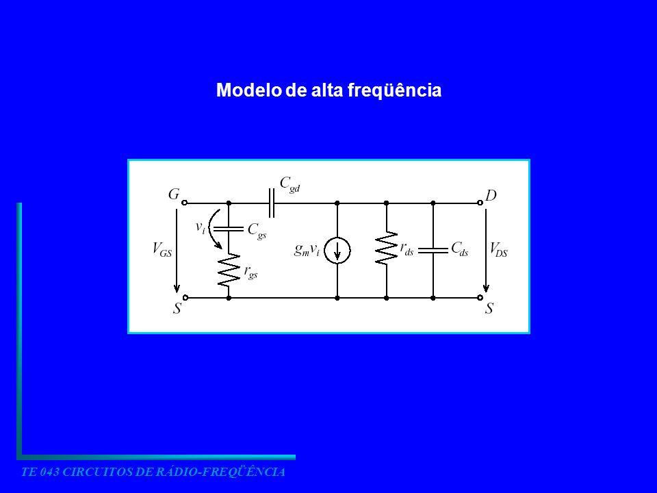 TE 043 CIRCUITOS DE RÁDIO-FREQÜÊNCIA Modelo de alta freqüência