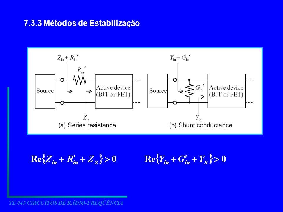 7.3.3 Métodos de Estabilização