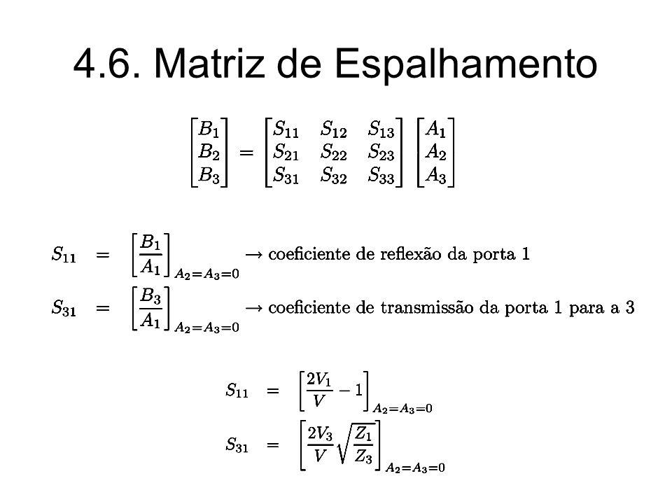 Circuito Perfeitamente Casado A diagonal principal de [S] possui todos os elementos nulos.