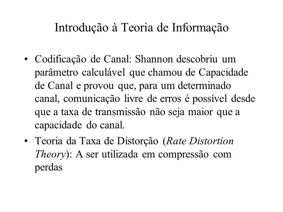 Codificação de Canal: Shannon descobriu um parâmetro calculável que chamou de Capacidade de Canal e provou que, para um determinado canal, comunicação