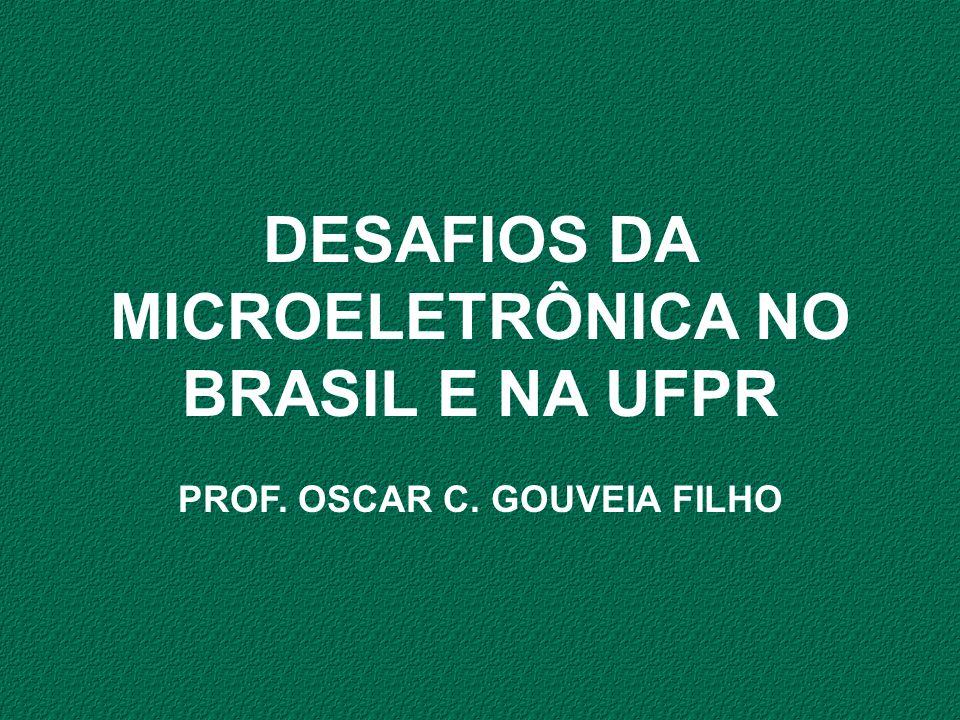 DESAFIOS DA MICROELETRÔNICA NO BRASIL E NA UFPR PROF. OSCAR C. GOUVEIA FILHO