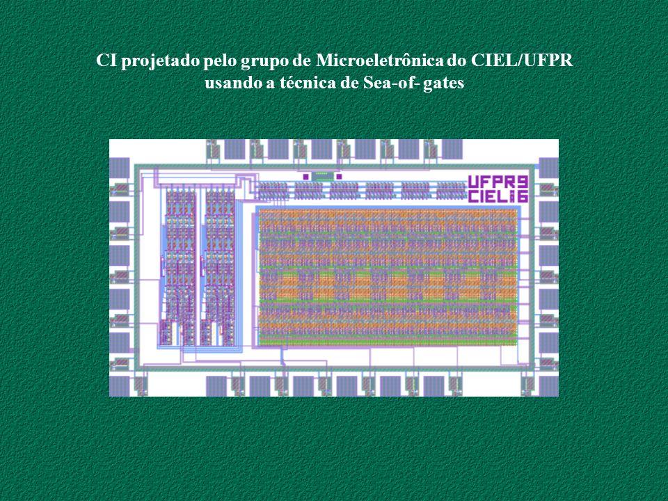 CI projetado pelo grupo de Microeletrônica do CIEL/UFPR usando a técnica de Sea-of- gates
