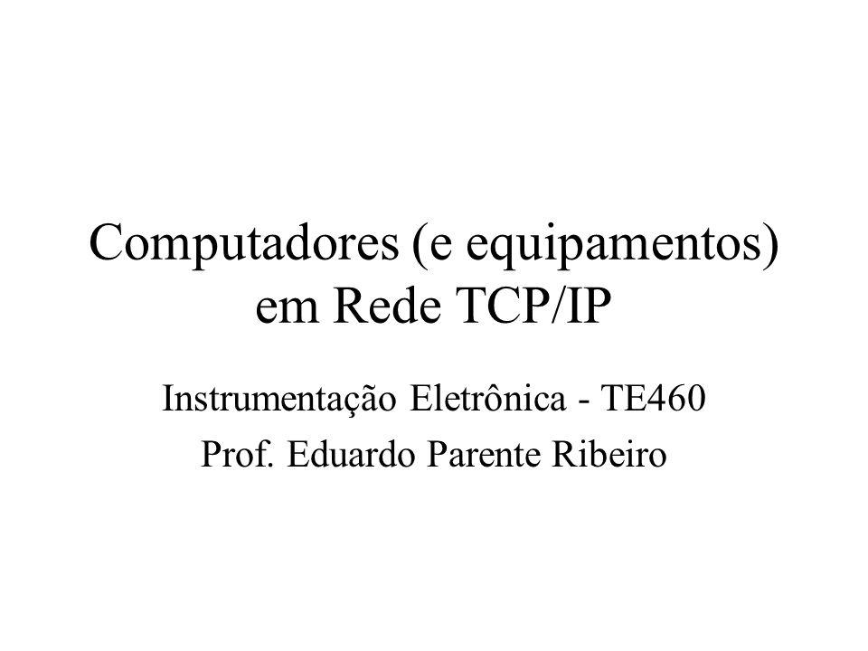 Computadores (e equipamentos) em Rede TCP/IP Instrumentação Eletrônica - TE460 Prof. Eduardo Parente Ribeiro