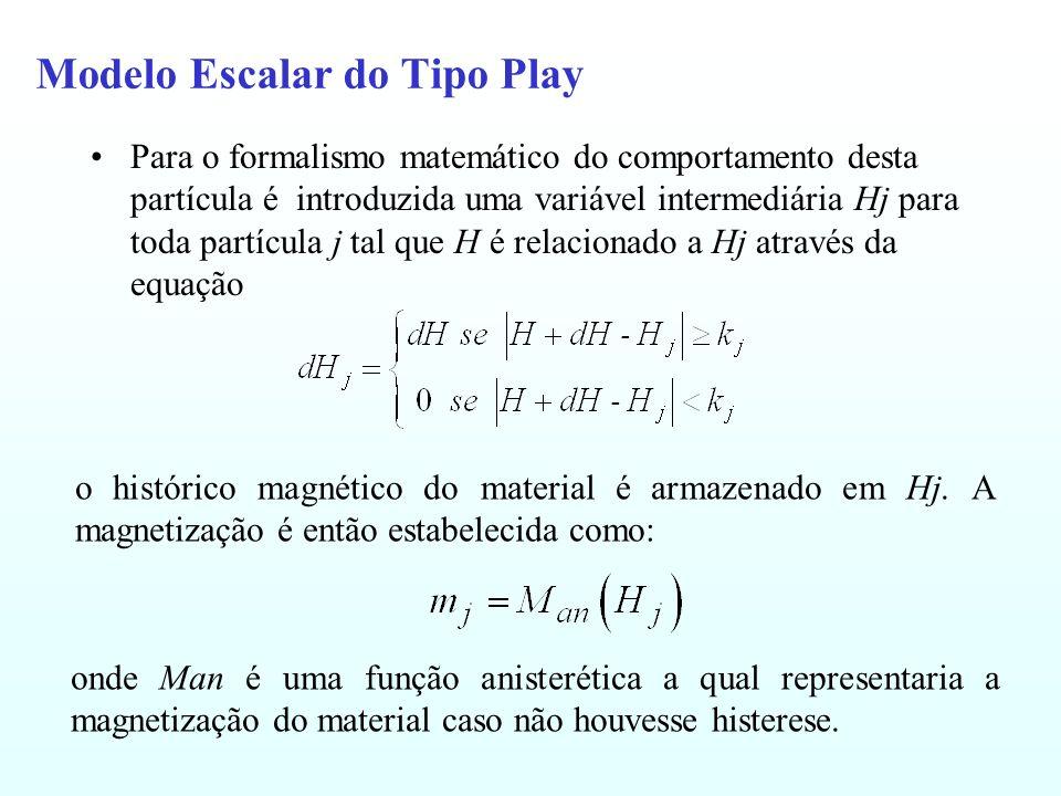 Modelo Escalar do Tipo Play Para o formalismo matemático do comportamento desta partícula é introduzida uma variável intermediária Hj para toda partíc