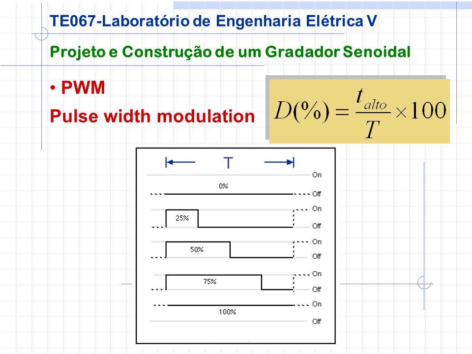 PWM Pulse width modulation Projeto e Construção de um Gradador Senoidal TE067-Laboratório de Engenharia Elétrica V T