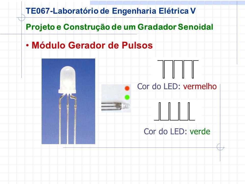 Módulo Gerador de Pulsos Projeto e Construção de um Gradador Senoidal TE067-Laboratório de Engenharia Elétrica V Cor do LED: verde Cor do LED: vermelh