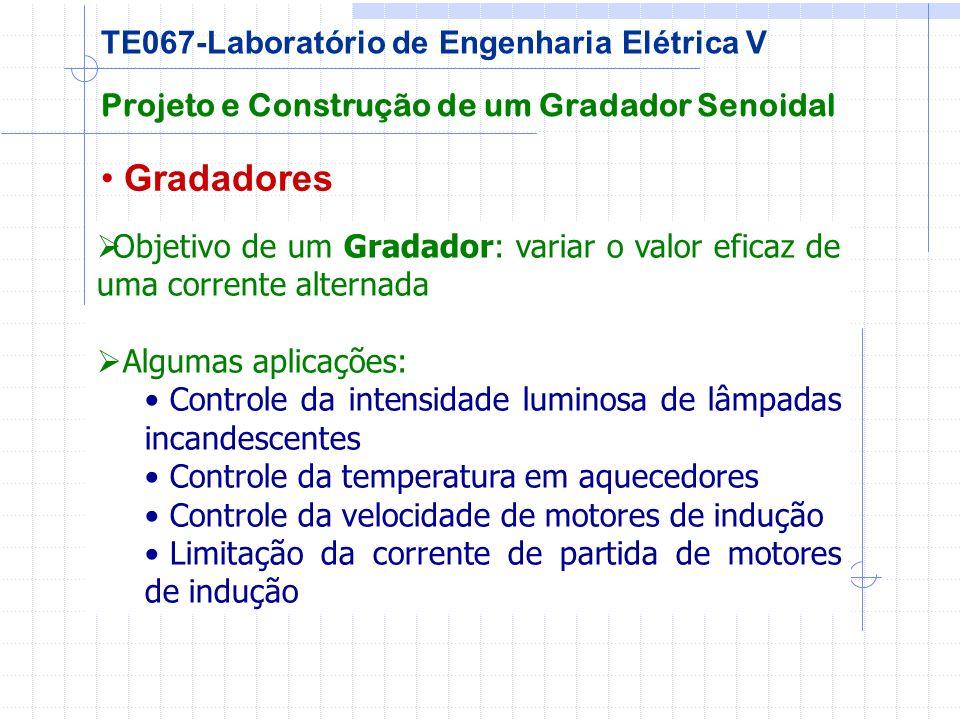 Gradadores Projeto e Construção de um Gradador Senoidal TE067-Laboratório de Engenharia Elétrica V Objetivo de um Gradador: variar o valor eficaz de u