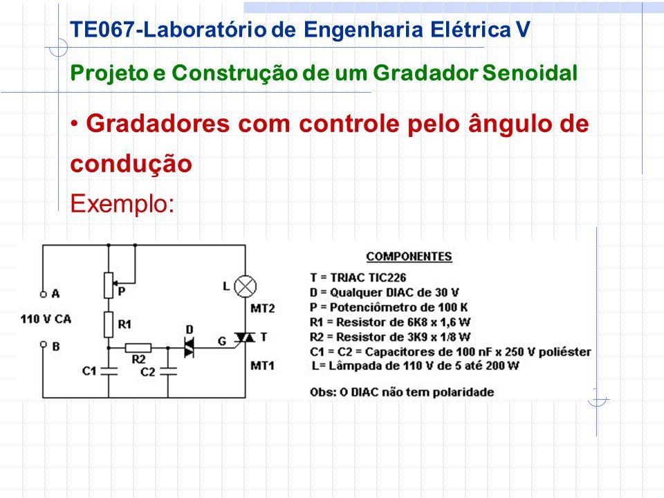 Gradadores com controle pelo ângulo de condução Exemplo: Projeto e Construção de um Gradador Senoidal TE067-Laboratório de Engenharia Elétrica V