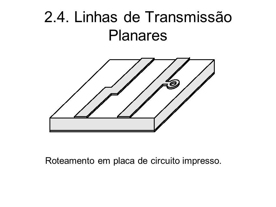 2.4. Linhas de Transmissão Planares Roteamento em placa de circuito impresso.