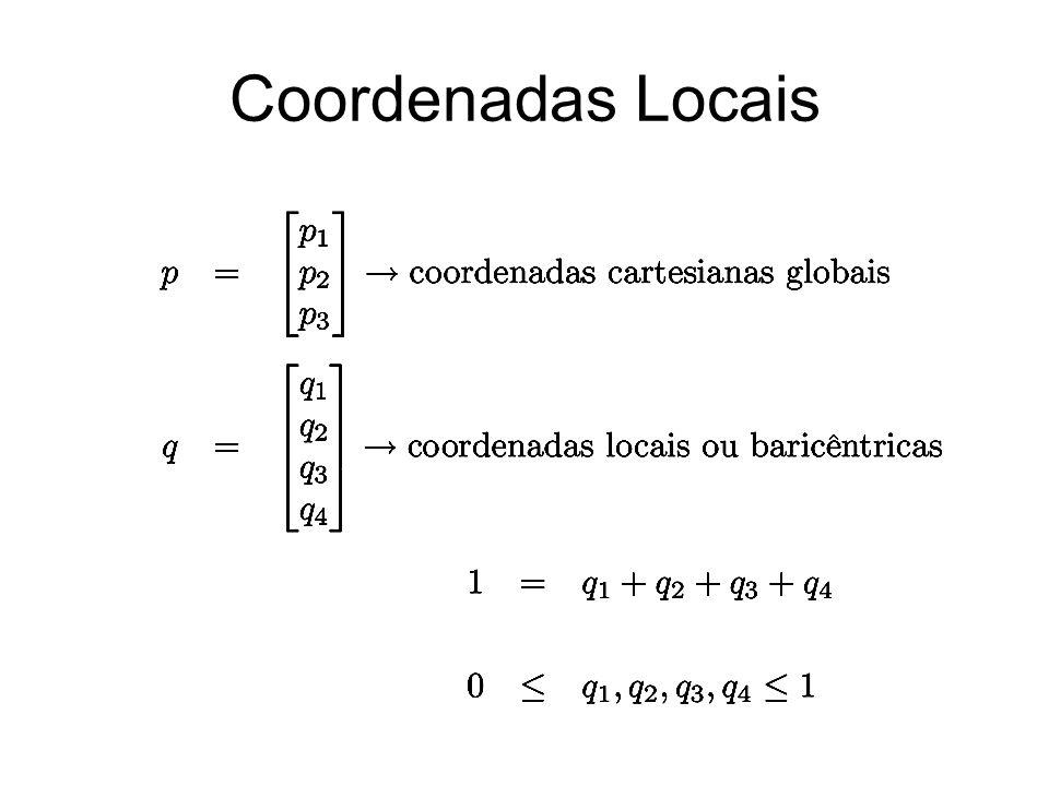 Continuidade As funções relacionadas com o mesmo vértice são multiplicadas pelo mesmo coeficiente.