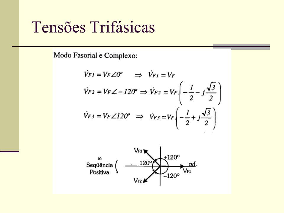 Vantagens do Sistema Trifásico Corrente de linha reduzida se comparada à um gerador monofásico equivalente.