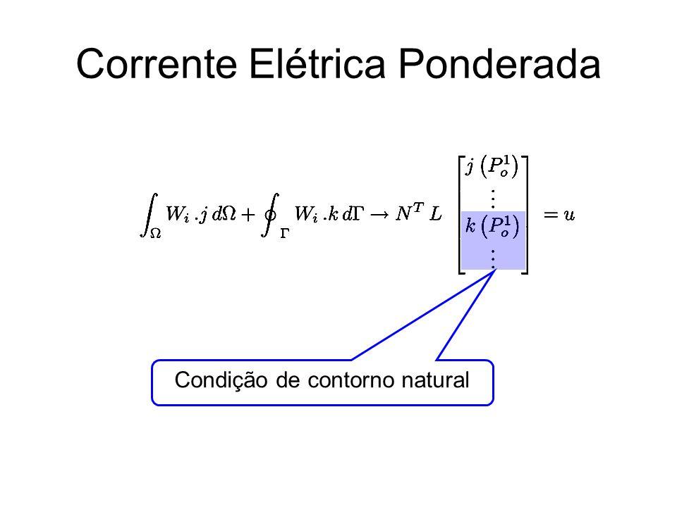 Corrente Elétrica Ponderada Condição de contorno natural