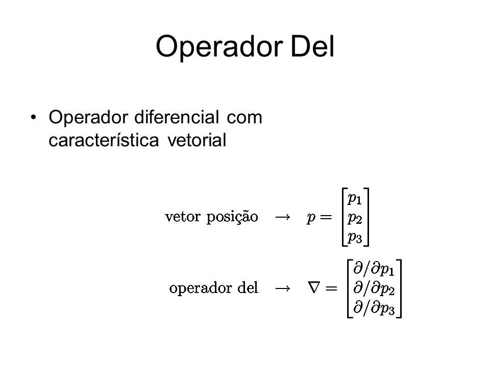 Operador Del Operador diferencial com característica vetorial