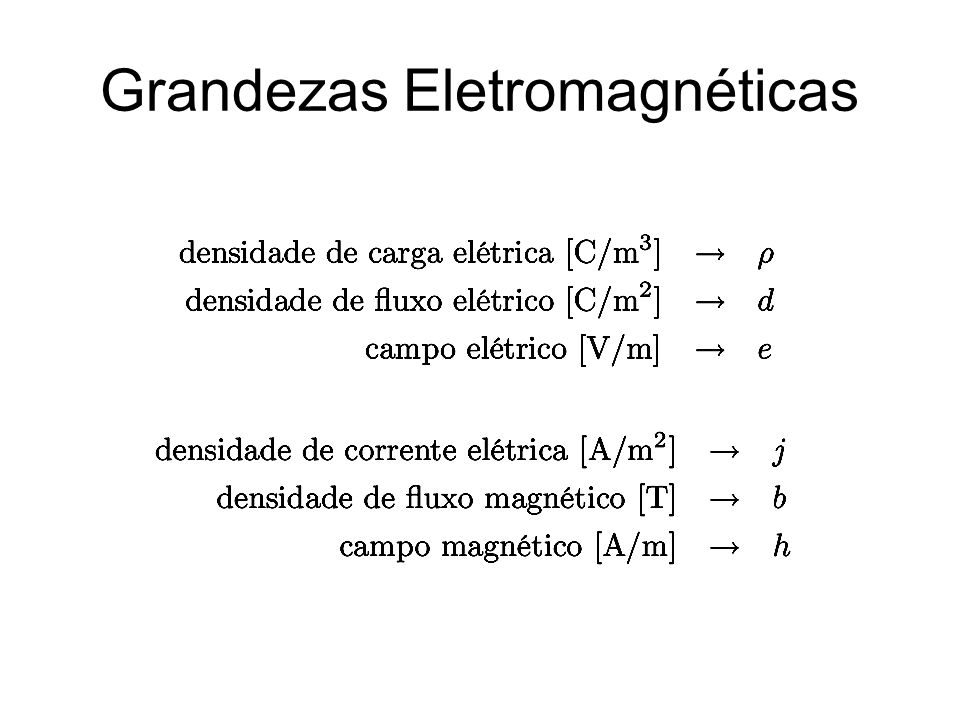 Grandezas Eletromagnéticas