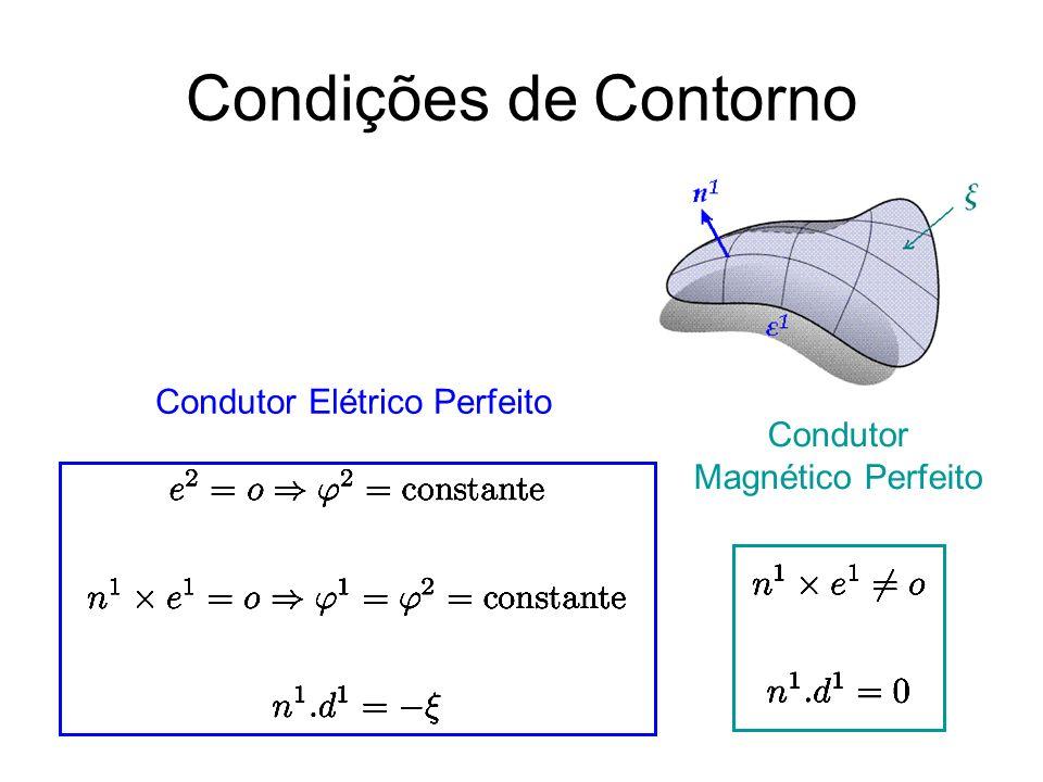 Condições de Contorno Condutor Elétrico Perfeito Condutor Magnético Perfeito