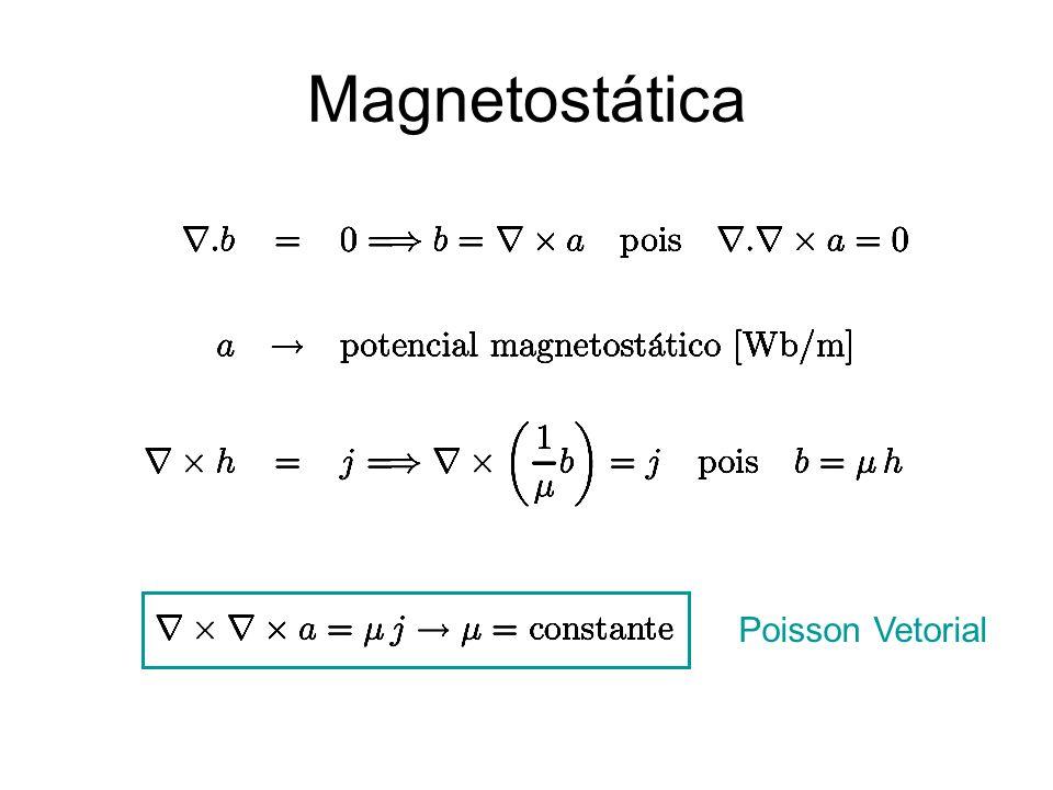 Magnetostática Poisson Vetorial