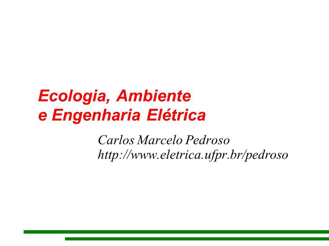 Ecologia, Ambiente e Engenharia Elétrica Carlos Marcelo Pedroso http://www.eletrica.ufpr.br/pedroso