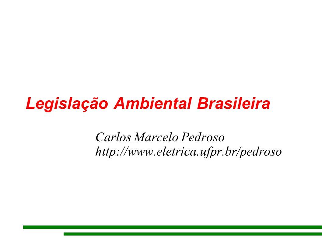 Legislação Ambiental Brasileira Carlos Marcelo Pedroso http://www.eletrica.ufpr.br/pedroso