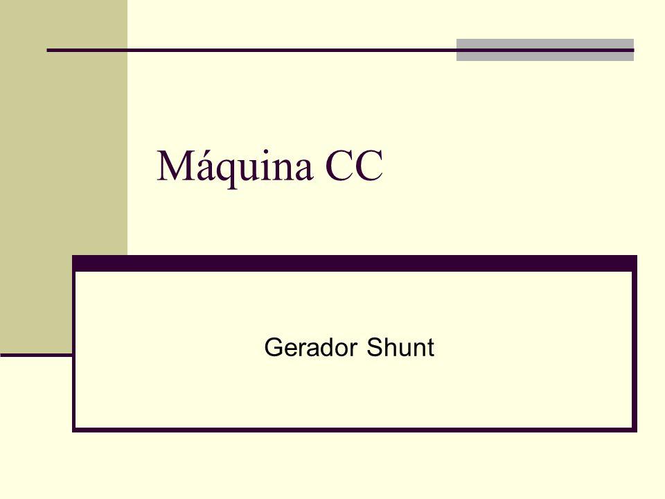Máquina CC Gerador Shunt