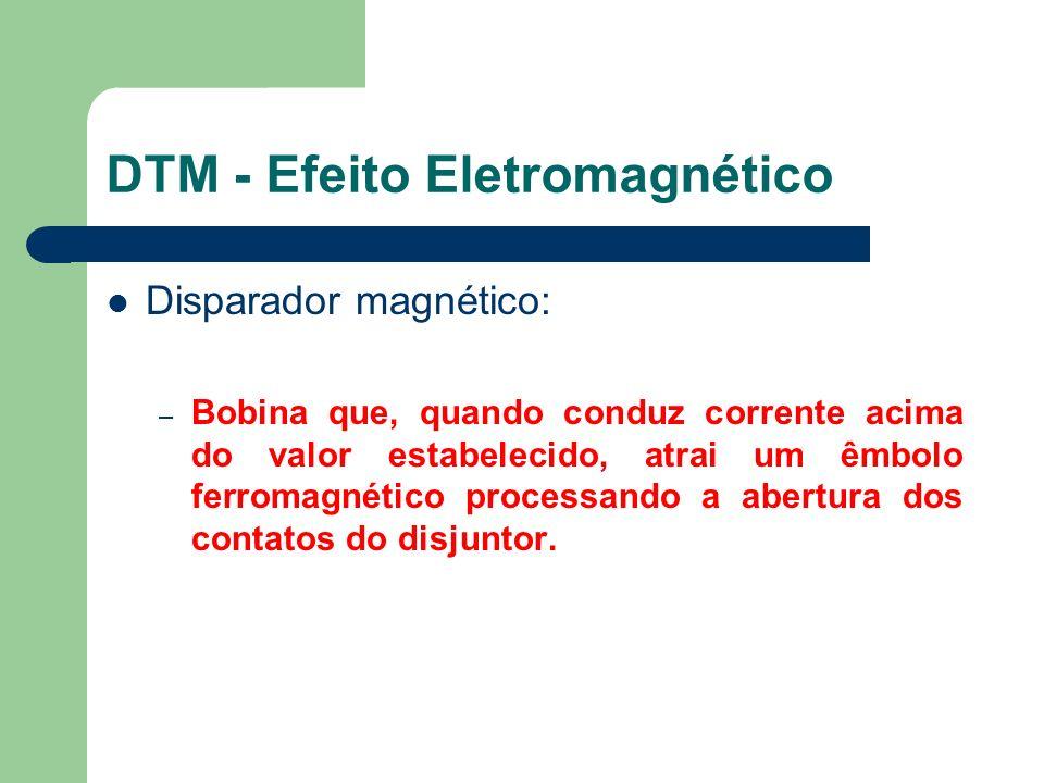 Disparador magnético: – Bobina que, quando conduz corrente acima do valor estabelecido, atrai um êmbolo ferromagnético processando a abertura dos cont
