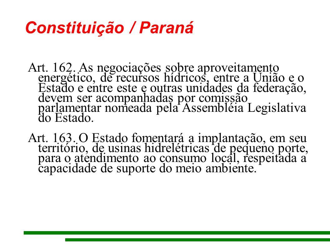 Constituição / Paraná Art. 162.