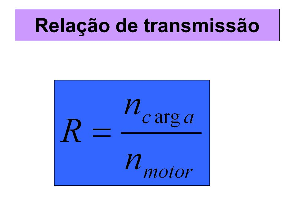 Relação de transmissão