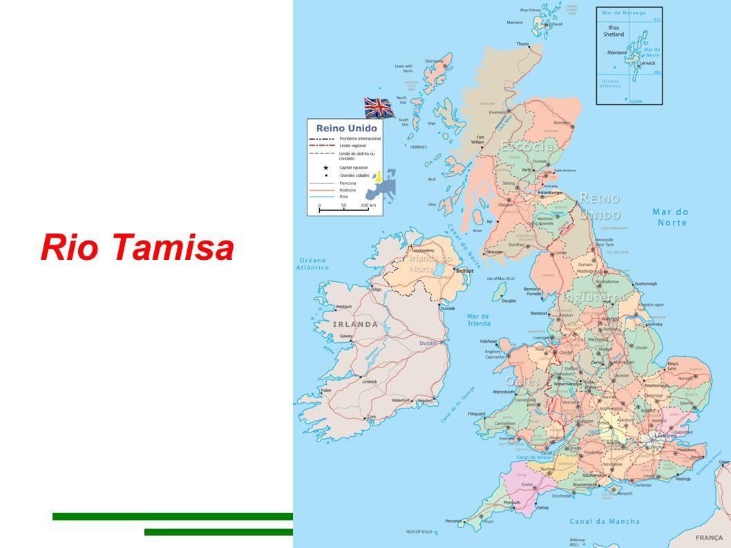 Rio Tâmisa O Tâmisa é um rio do sul de Inglaterra, que banha Londres e deságua no mar do Norte.