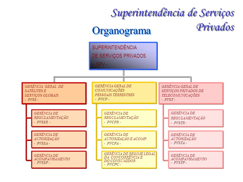 SUPERINTENDÊNCIA DE SERVIÇOS PRIVADOS - SPV - GERÊNCIA DE REGULAMENTAÇÃO - PVCPR - GERÊNCIA DE AUTORIZAÇÃO E ACOMP.