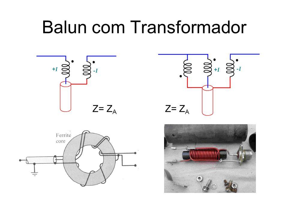 Balun com Transformador Z= Z A