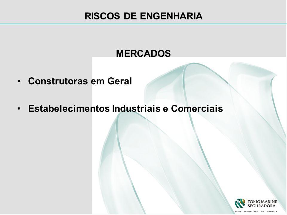 RISCOS DE ENGENHARIA MERCADOS Construtoras em Geral Estabelecimentos Industriais e Comerciais
