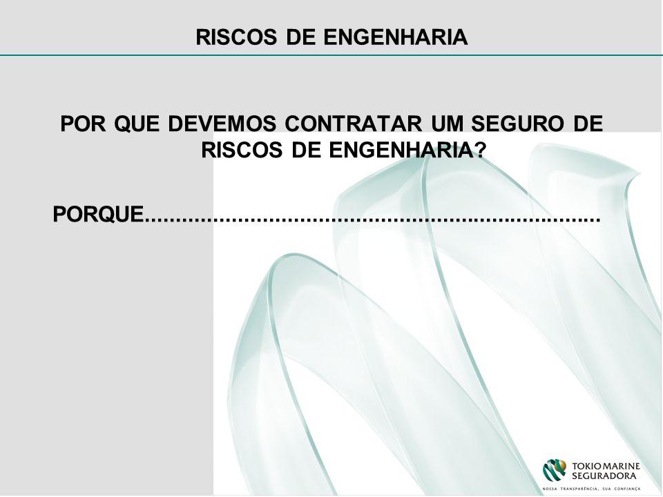 POR QUE DEVEMOS CONTRATAR UM SEGURO DE RISCOS DE ENGENHARIA.