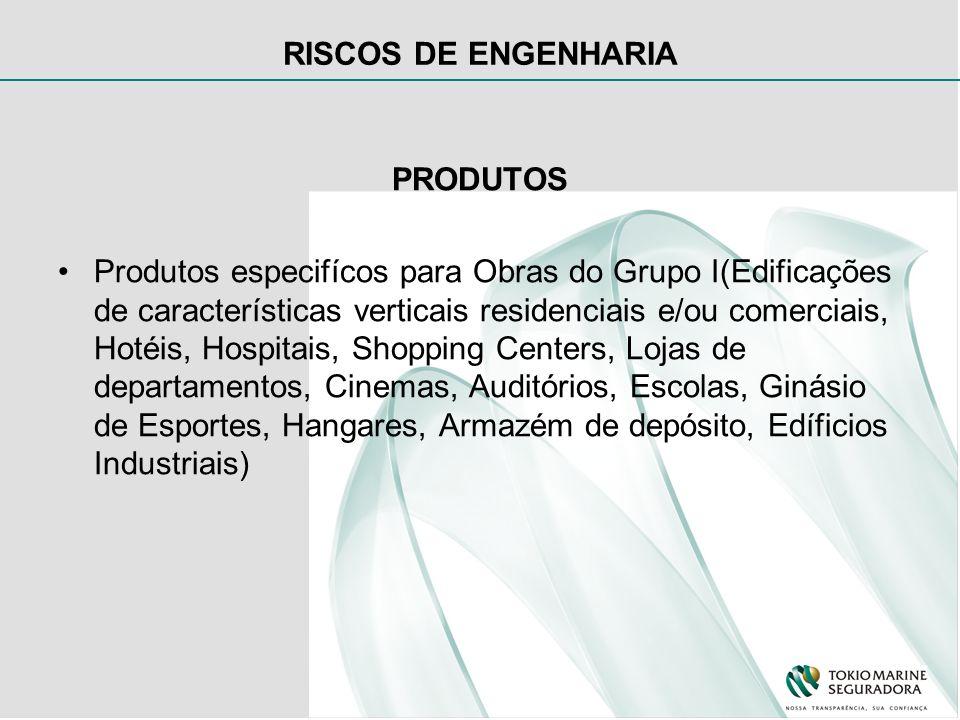 RISCOS DE ENGENHARIA PRODUTOS Produtos específicos para Obras de reformas.